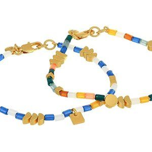 Madewell Beaded Stretch Bracelet Set